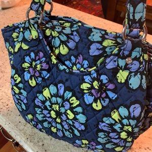Vera Bradley African Violet Crescent Handbag